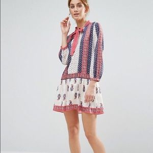 NWT English Factory Long Sleeve Mini Dress